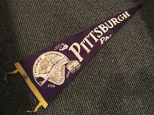 1758-1958 PITTSBURGH PIRATES STEELERS RARE BICENTENNIAL PENNANT BLOCK HOUSE