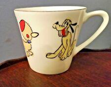 "Vintage PLUTO and DUCK  Porcelain Childs mug RARE Maruma China 2.25"" Tall"
