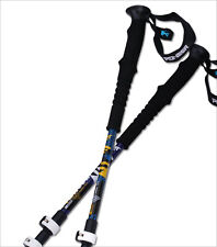Pair 2 Trekking Walking Hiking Sticks Poles Alpenstock Adjustable 23 to 53 Inch