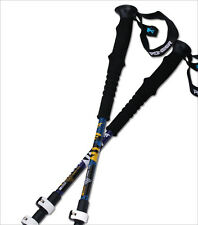 "Pair 2 Trekking Walking Hiking Sticks Poles Alpenstock Adjustable 23"" to 53"""
