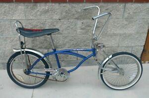 "USED EL GORDO 20"" LOW RIDER BANANA SEAT BICYCLE 72 SPOKE WHEELS"