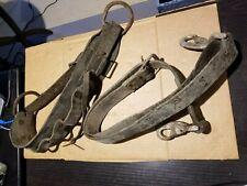 Vintage Lineman'S Pole Climbing Belt Brown Leather - Bell Tech Estate Find