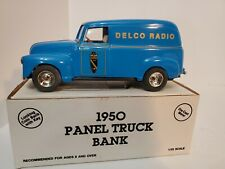 Ertl 1/25 1950 Chevy Delco Radio Panel Truck Bank Die-cast