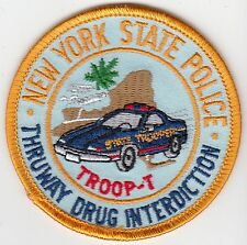 NEW YORK STATE POLICE TROOP T THRUWAY DRUG INTERDICTION NY PATCH
