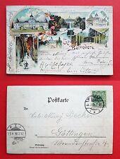 Litho AK GÖTTINGEN 1896 Gruss aus Belvedere mit Schloss        ( 20883