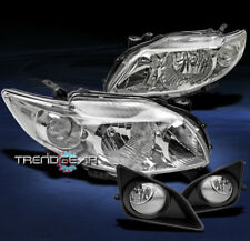 2009-2010 TOYOTA COROLLA CRYSTAL JDM HEAD LIGHTS+FOG+COVER BUMPER SIGNAL CE LE S