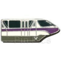 Disney Pin 51174 WDW Hidden Mickey Collection Monorails Purple Silver Metal #