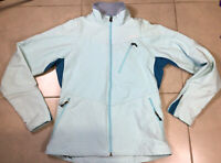 Women's Patagonia Jacket Light Blue Sz M Polartec Fleece Full Zip Coat Soft Shel