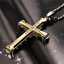 Fashion Unisex Stainless Steel Cross Pendant Necklace Clavicle Chain G