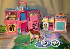 Fisher Price Sweet Streets Dollhouse Hotel Dance Studio Horse Carriage 27 Pieces