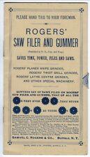 Illustrated Booklet/Mailer, Rogers' Saw Filer & Gummer, 1880s