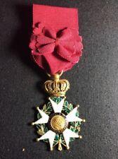 Croix Ordre Légion D'honneur en or poinçon Tête de bélier - Médaille militaire