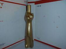 "HTF GOLD SPARKLE CAT SHAPED GERMAN GLASS WINE BOTTLE 13"" TALL W/ LABEL 2001"