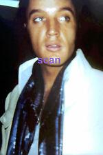 ELVIS PRESLEY WITH BLUE SCARF BACKSTAGE LAS VEGAS 8/12/69 PHOTO CANDID #2