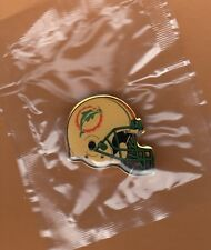 1990s MIAMI DOLPHINS OLD LOGO HELMET LARGE LAPEL PIN UNSOLD STOCK STILL PACKAGED