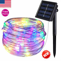 Solar powered tube led Twinkle Fairy String Rope Lights for Outdoor garden patio