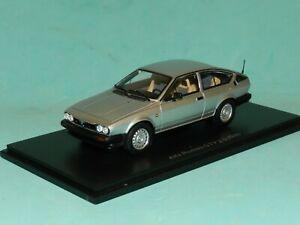 Spark Models 1/43 Alfa Romeo GTV 2.0 1980 Silver MiB