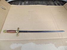 "VINTAGE WOOD & BRASS HANDLE 31 1/2"" PAKISTAN VIKING SWORD"
