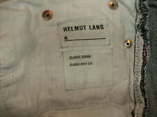 Helmut Lang original label jeans, made in Italy  classic cut button fly  30X32