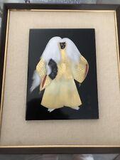 Vintage Wajima lacquerware Kabuki dancer artwork