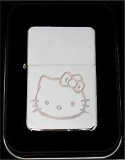 HELLO KITTY Cat Engraved Chrome Great Metal Cigarette NEW Lighter Gift LEN-0016