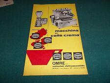 pubblicità 1966 MACCHINA PER CAFFE' ESPRESSO BAR OMRE QUIK MILL WERBUNG ADVERT