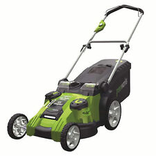 """Greenworks (20"""") G-Max Twin Force 40-Volt Cordless Dual Blade 2-In-1 Lawn Mower"""