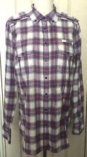 BNWT Gap Women Purple Check Long Shirt L RRP£32.50