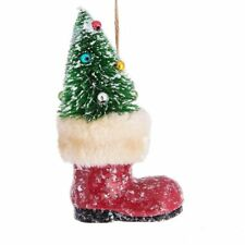 "SANTA'S BOOT Christmas Tree Ornament, 6"" Tall, by Midwest CBK"
