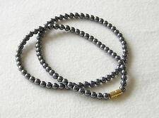 4mm Hematit Halskette verschiedene Längen 4 mm Hämatit Perlen grau Halskette