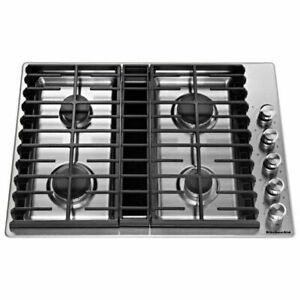 "Kitchenaid KCGD500GSS 30"" Gas Cooktop"
