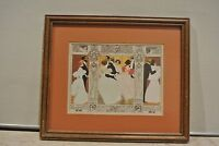 Picture Frame with Print of a Dance