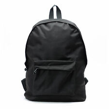 Mens Backpack Back Packs School Bag Travel Satchel Canvas Laptop Bag Black