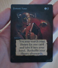 *** Beta [] altered Demonic Tutor *** NM-MINT Beautiful ***