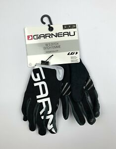 Louis Garneau Women's Ditch Full Finger Cycling Gloves Black Size Small New
