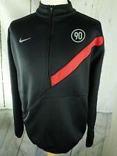 Men's NIKE Total 90 Football Soccer Fleece Lined Training Top - Size Large