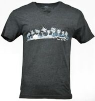 Men's T-Shirt V-Neck Sunset Beach Palm Trees Relax by MB T shirts 100 % Cotton