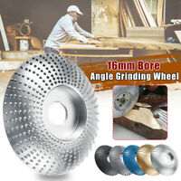 16mm Bore Tungsten Carbide Angle Grinding Wheel Wood Sanding Polish Carving Disc