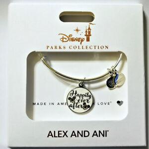 Alex & Ani Disney Park Bracelet Happily Ever After Wedding Bride Mickey Silver