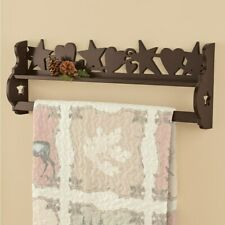 Country Barn Star Wall Mount Quilt Hanging Wood Rack Wooden Primitive Blanket