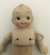 Antique Cupie Porcelain Doll Miniature Small Kewpie Bisque Rose O'Neill 6""