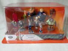 Disney Store Zootropolis Deluxe Figurine Playset 10 Figure Set