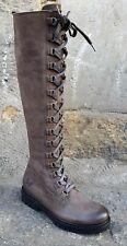 FELMINI Schuh C028 Asfalto Grau Braun Damen Echtleder Stiefel Reißverschluss