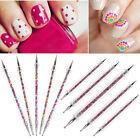 5pcs 2 Way Marbleizing Dotting Manicure Tools Painting Pen Nail Art Paint Tools