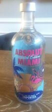 ABSOLUT Miami Vodka- LIMITED EDITION 750ml Empty Bottle Sweden Free Shipping