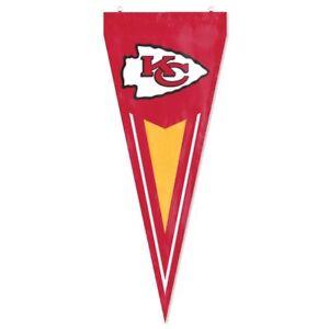 "Kansas City Chiefs Embroidered Pennant Flag Garden Flag 34""x14"" USA SHIPPER"