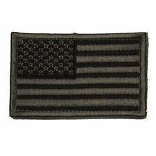 Grey USA Stars and Stripes Self Adhesive Tactical Flag Patch 2x3in Forward