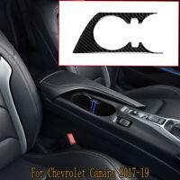 Carbon Faser Central Cup Panel dekorative Verkleidung für Chevrolet Camaro 17-19