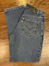 Vtg Levi Silver Tab Straight Relaxed Fit Button Fly Denim Jeans Tag 29x30