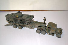 1:72 PROFESSIONAL BUILT MODEL WWII UK TANK TRANSPORTER with CHURCHILL
